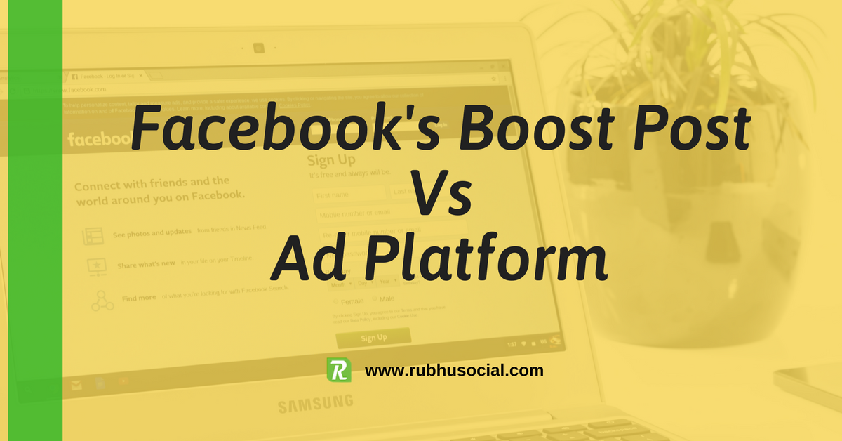 How is boost post different from creating an ad on Facebook's ad platform?